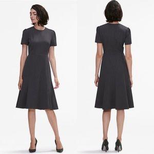 MM Lafleur The Inez Dress in Charcoal Short Sleeve